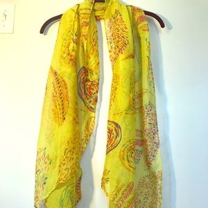 Accessories - Yellow Paisley Scarf